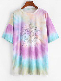 T-shirt Graphique Teinté Soleil - Magenta L