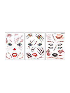 Halloween Waterproof Tattoo Stickers Set - Multi-a