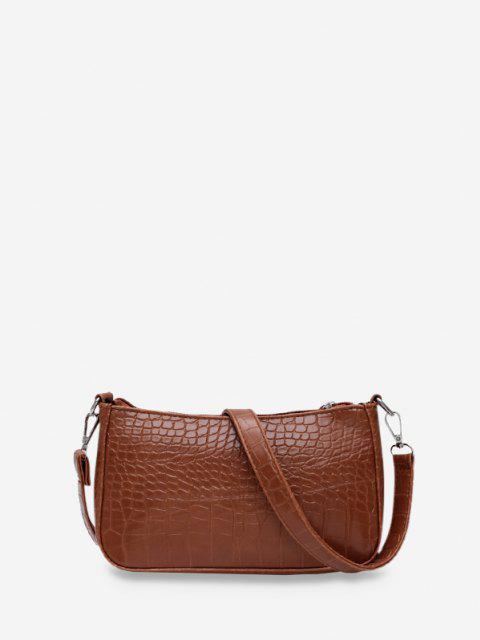 buy Animal Embossed Simple Style Sling Bag - COFFEE  Mobile