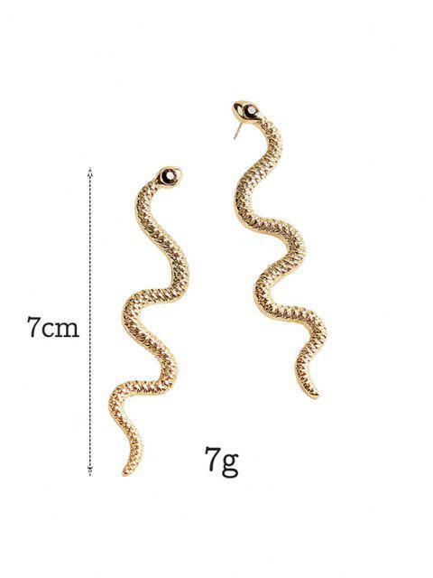 Pendientes del Rhinestone de La Serpiente - dorado  Mobile