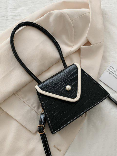 outfits Textured Faux Pearl Shoulder Bag - BLACK  Mobile