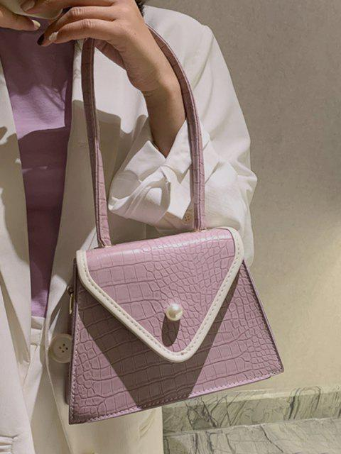 shop Textured Faux Pearl Shoulder Bag - LIGHT PURPLE  Mobile