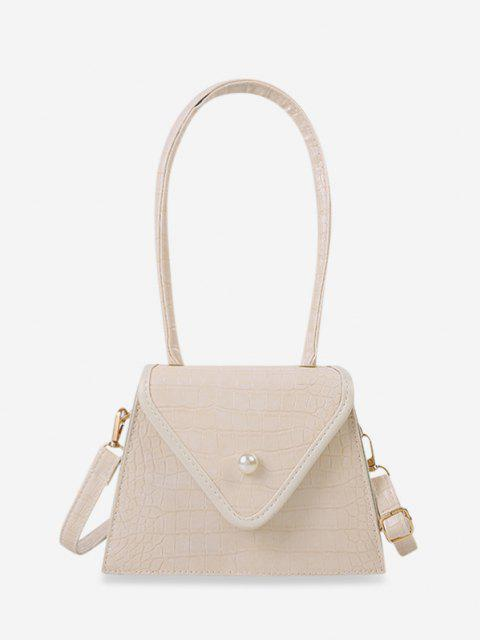 shops Textured Faux Pearl Shoulder Bag - LIGHT YELLOW  Mobile