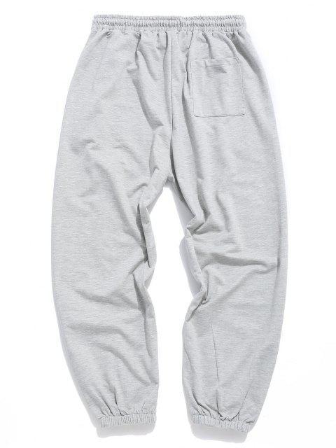 Jogger Pantalones Deportivos de Neón con Cintura Elástica - Gris M Mobile