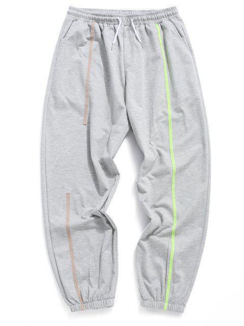 Jogger Pantalones Deportivos de Neón con Cintura Elástica - Gris L Mobile
