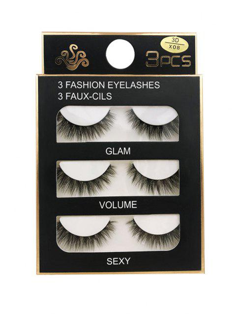 latest Long Extensions Criss Cross False Eyelashes - BLACK 3D-X08 Mobile