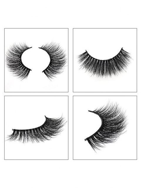 unique 3Pairs Handmade False Eyelashes Set - BLACK G304 Mobile