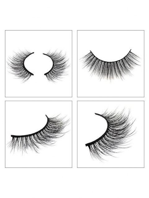 sale 3Pairs Handmade False Eyelashes Set - BLACK G305 Mobile