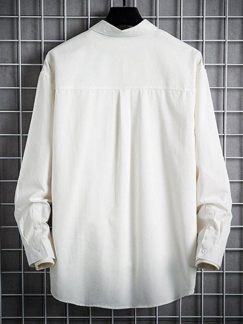 Chemise de Base Simple avec Poche à Rabat - Blanc 2XL Mobile