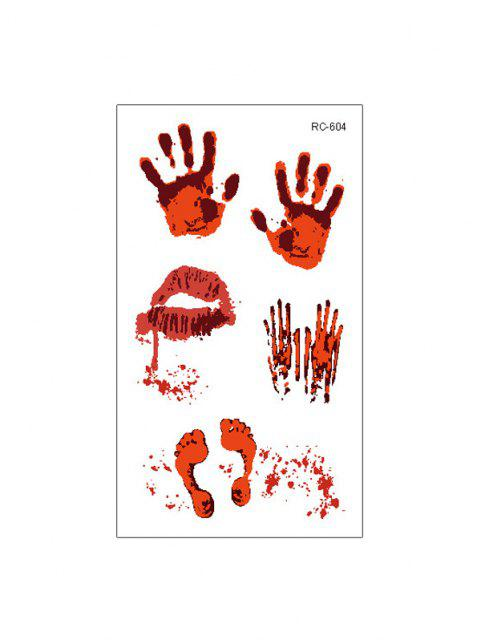 Halloween Blut Wunde Tattoo-Aufkleber-Set Set - Multi-C  Mobile