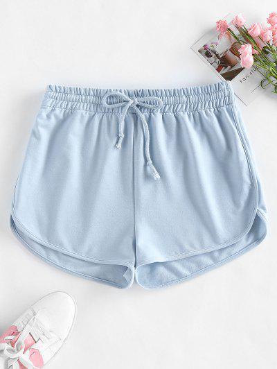ZAFUL Drawstring Sweat Shorts - Light Blue S