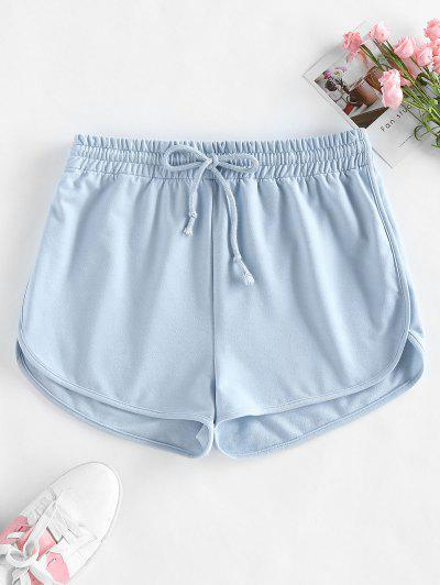 ZAFUL Drawstring Sweat Shorts - Light Blue M