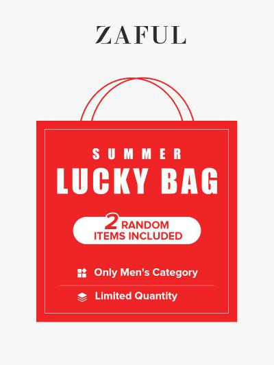 ZAFUL Summer Lucky Bag - 2 Random Items Included - Only Men's Category - Limited Quantity - Multi S