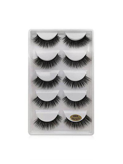 Long Extension Curling False Eyelashes - Black G501
