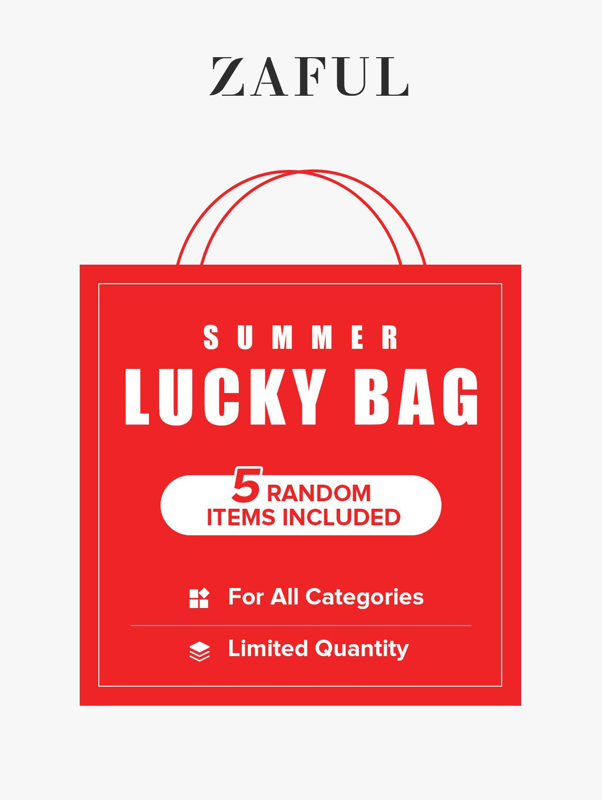 ZAFUL Summer Lucky Bag - 5 Random Items Included - For All Categories - Limited Quantity
