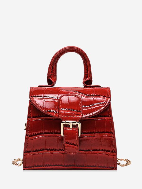 Animal Embossed Mini Top Handle Crossbody Bag