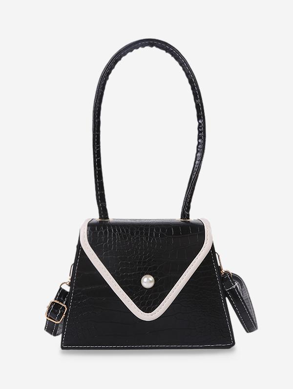 Textured Faux Pearl Shoulder Bag