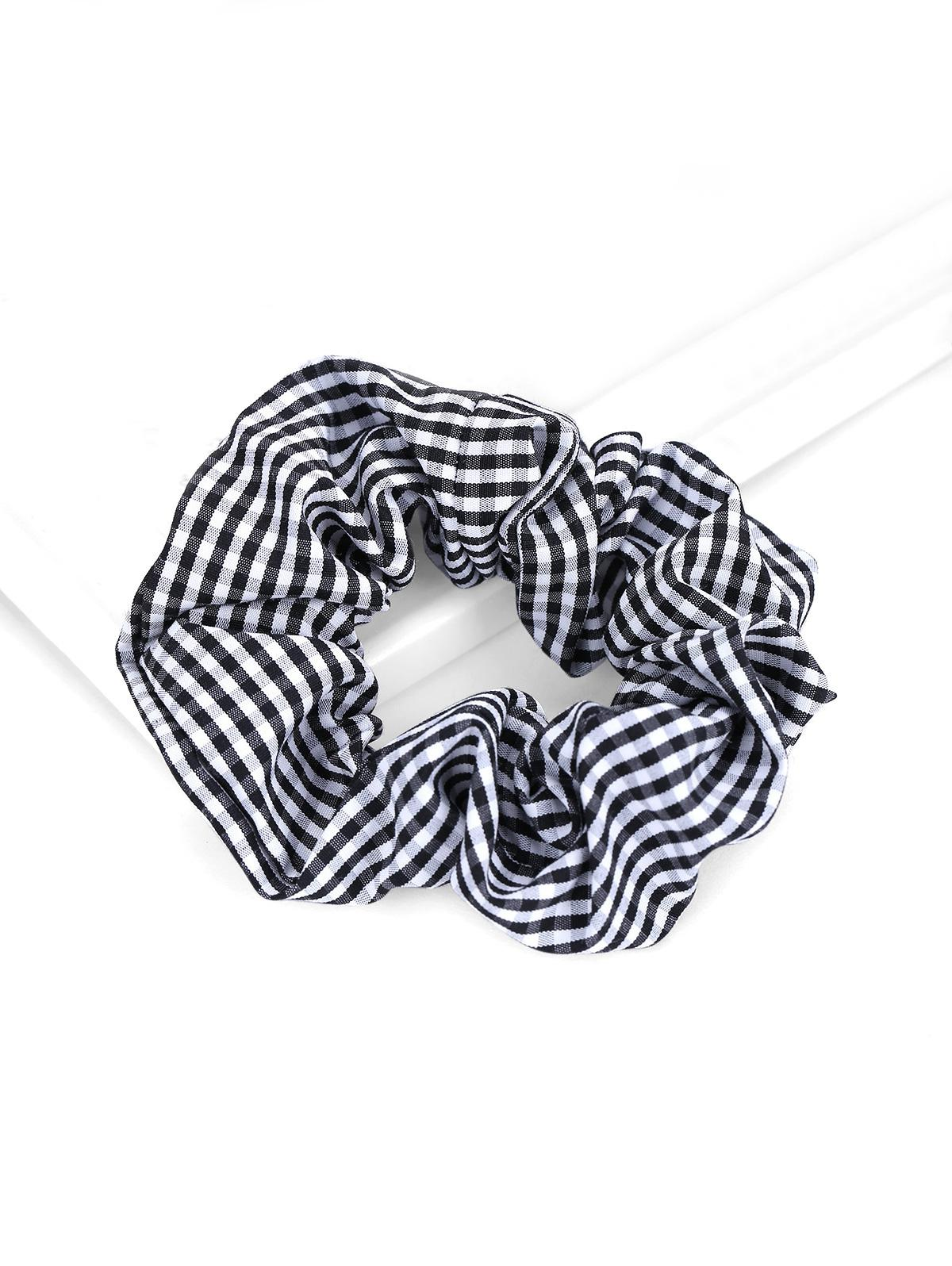 Plaid Striped Elastic Scrunchies