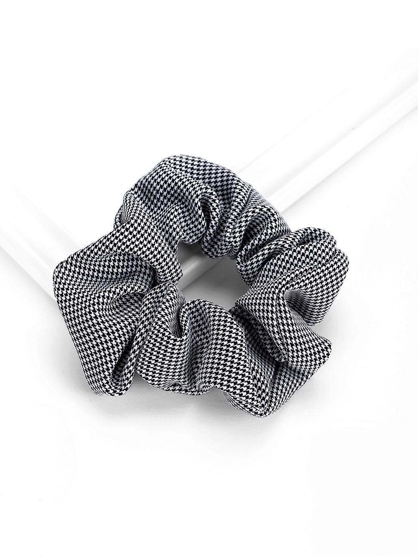 Plaid Striped Elastic Scrunchies