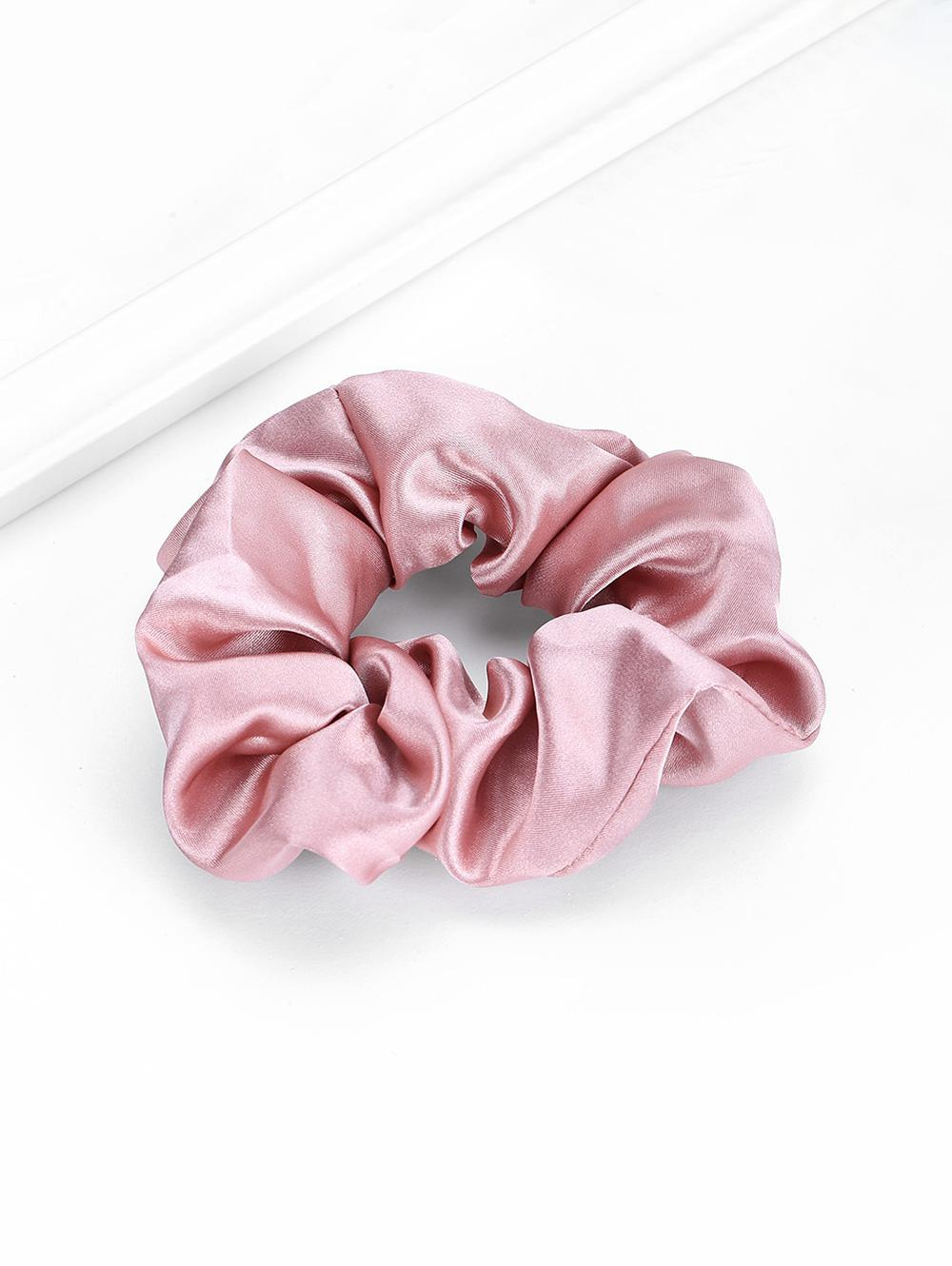Solid Satin Fabric Elastic Scrunchy