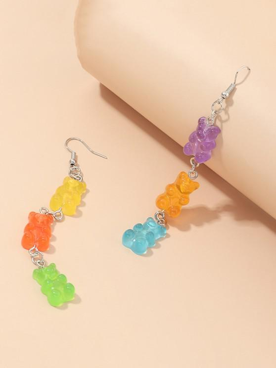 latest Bear Candy Shape Dangle Earrings - MULTI-A