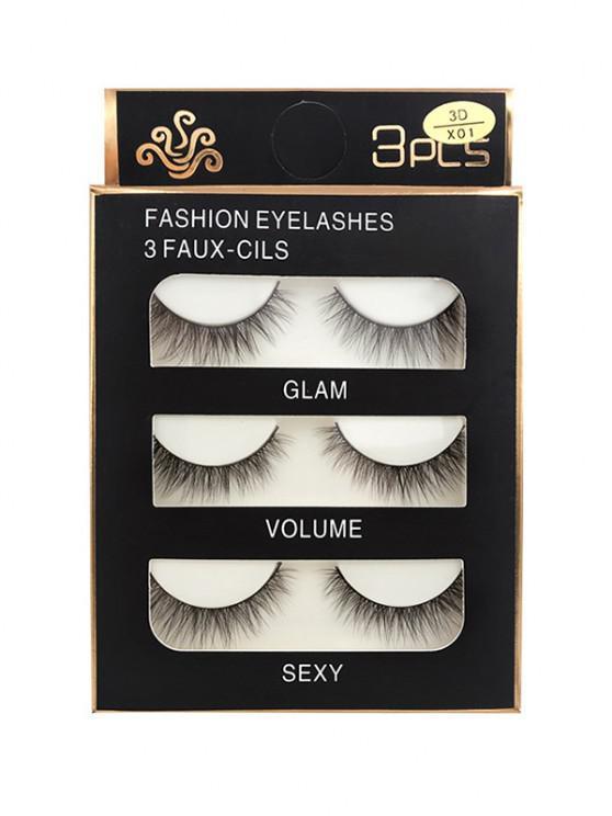 shop Long Extensions Criss Cross False Eyelashes - BLACK 3D-X01