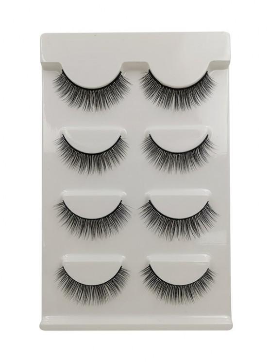 trendy Long Extensions Curling False Eyelashes - BLACK G101
