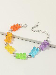 Colored Resin Bear Shape Bracelet - Multi-a