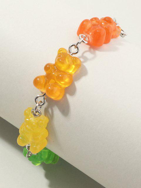 Bracciale con Resina a Forma di Orso Colorate - Multi Colori-A  Mobile