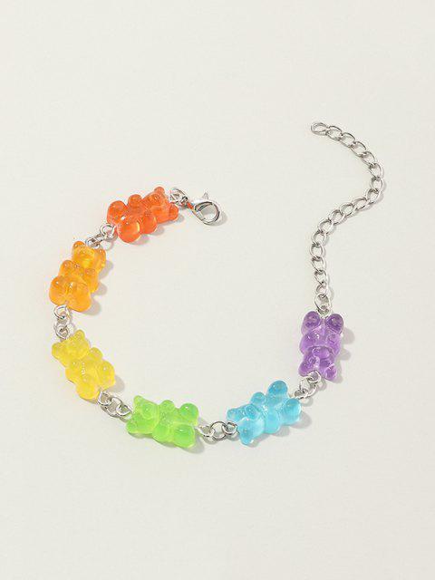 Pulsera de Forma de Oso de Resina de Color - Multicolor-A  Mobile