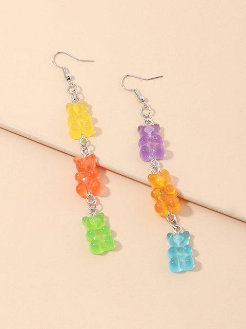 Bear Candy Shape Dangle Earrings - متعددة-A  Mobile