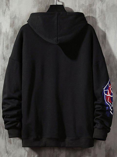 women Funny Graphic Print Streetwear Hoodie - BLACK 3XL Mobile