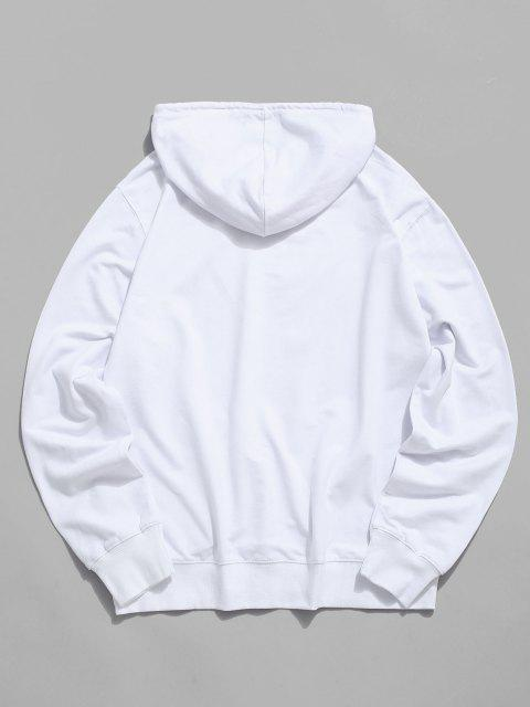 buy Chinese Brothers Characters Casual Pouch Pocket Hoodie - WHITE L Mobile