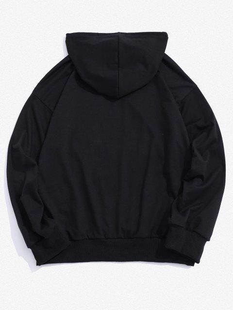 outfit Celestial Sun Sunshine Graphic Drop Shoulder Hoodie - BLACK XL Mobile