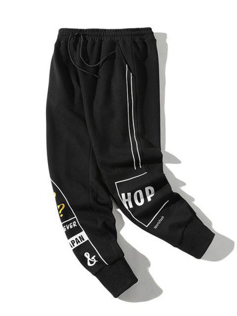 Pantalones Lápiz AdelgazanteaRayas y Cordones - Negro XS Mobile