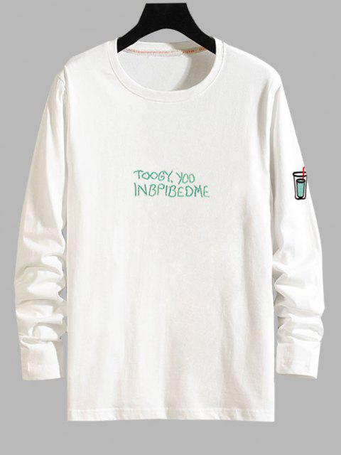 Camiseta Manga Larga Estampado Étnico - Blanco L Mobile