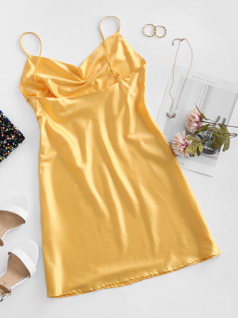Cami Ärmelloses Minikleid mit Kapuze - Gelb M Mobile