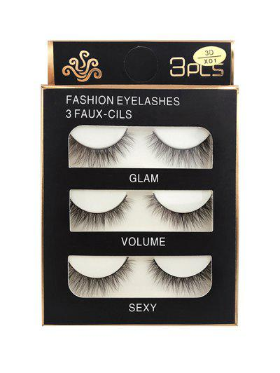 Long Extensions Criss Cross False Eyelashes - Black 3d-x01