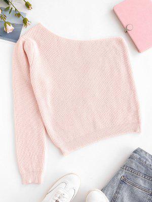 zaful One Shoulder Plain Jumper Sweater