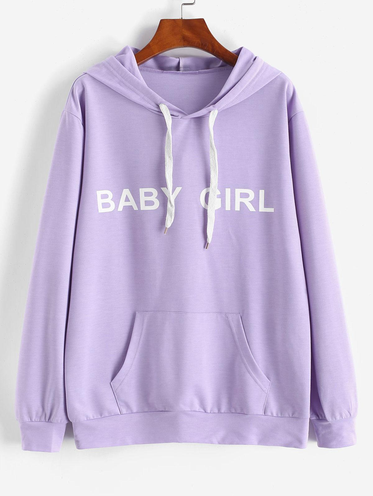ZAFUL Front Pocket BABY GIRL Oversized Hoodie