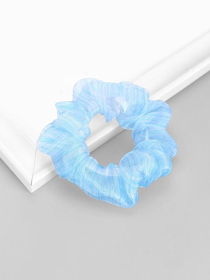 Striped Metallic Gauze Elastic Scrunchy