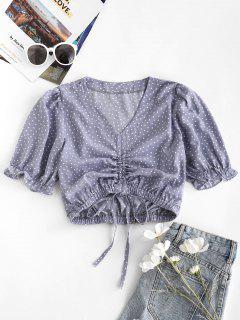 Blusa Suelta De Lunares Franjas - Luz Púrpura M