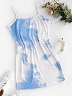 Robe Moulante Teintée à Bretelle - Bleu Clair M