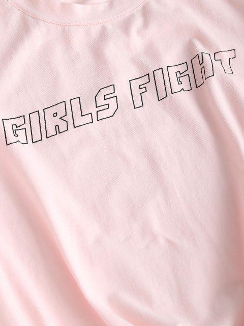 Mädchen Elfen Blumenrad Grafik T-Shirt und Biker Shorts Set - Hell-Pink L Mobile