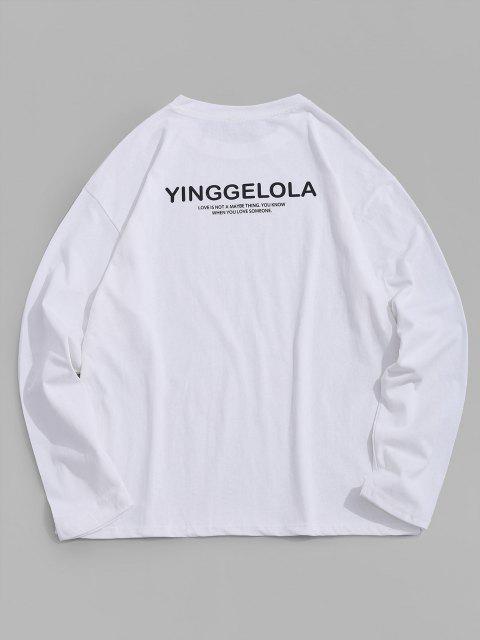Camiseta Cuello Redondo Estampado Letra - Blanco L Mobile
