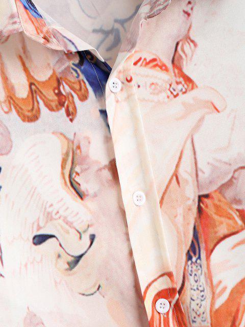 Chemise Renaissance à Manches Longues - Jaune clair 2XL Mobile