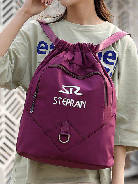 outfits Letter Pattern Folded Drawstring Backpack - CONCORD  Mobile