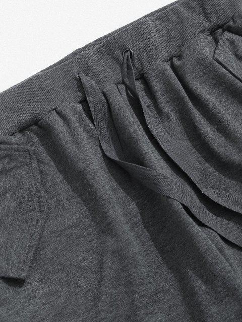 Pantalones Deportivos con Cinta y Bolsillos - Gris Oscuro L Mobile