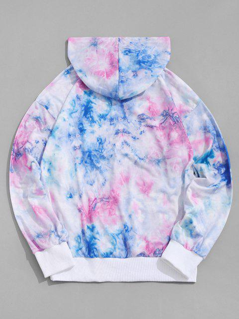 sale Letter Print Tie Dye Hoodie - LIGHT PINK S Mobile
