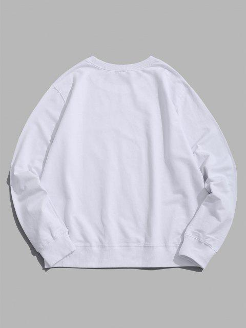 outfits Honey Bee Graphic Crew Neck Lounge Sweatshirt - WHITE L Mobile